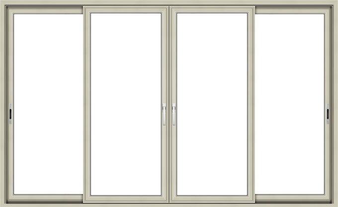 marco de aluminio panel vidriada puerta corredera de