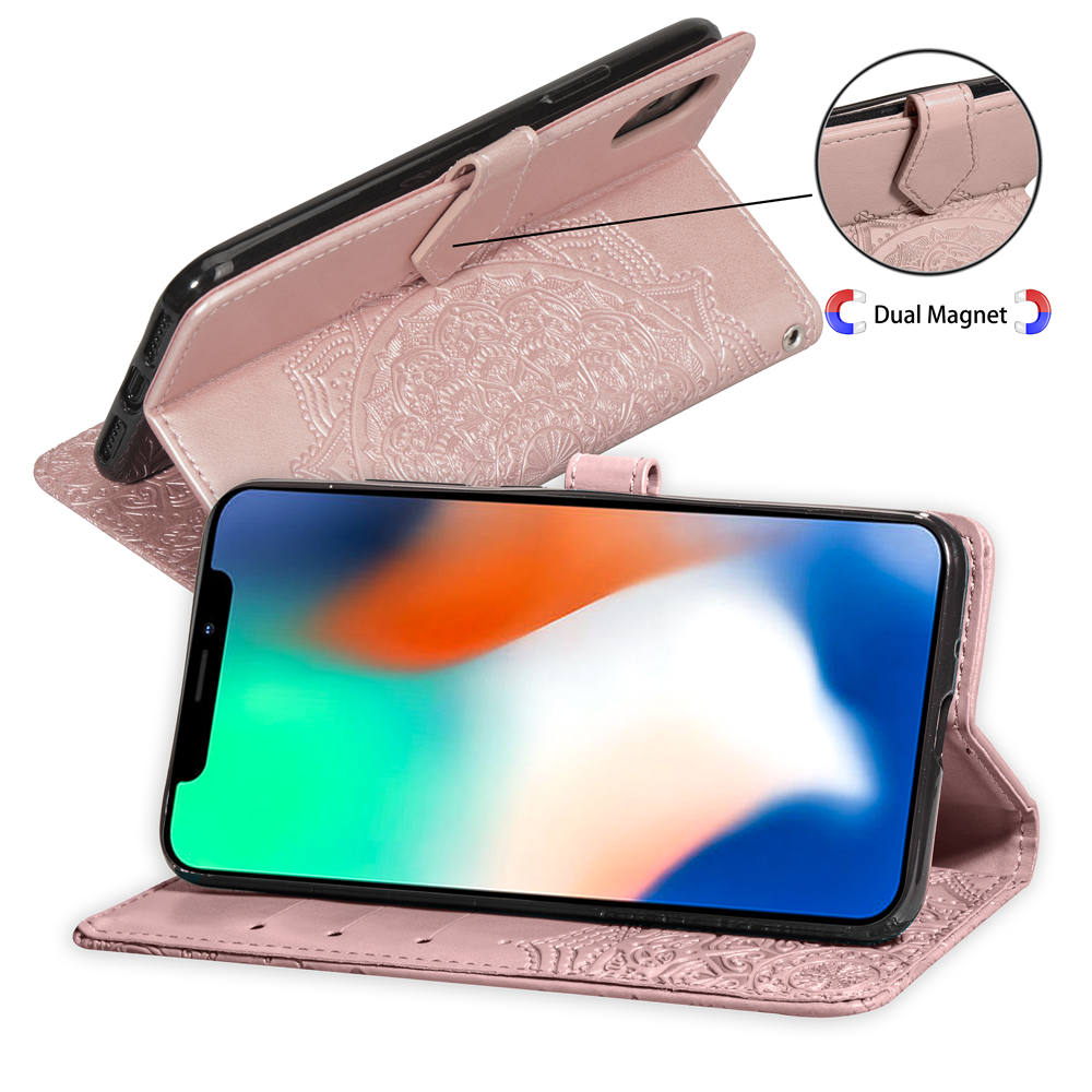 HTB19BDtK4TpK1RjSZFKq6y2wXXad For iPhone 11 Pro XS Max XR Leather Phone Case Embossed Flower iPhone X XI Pro 5 5S SE 6 6S 7 8 Plus Wallet Bag Cover Flip Cases