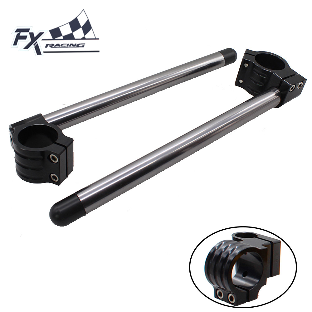 CNC Adjustable Motorcycle 45MM Regular Clip On Ones Handlebar Fork Handle Bar For SUZUKI GSXR600 GSXR