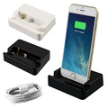 Dual Sync Date Relaxation Charger Cradle Audio desktop Dock Station adapter For iPhone 6 6s With USB date line