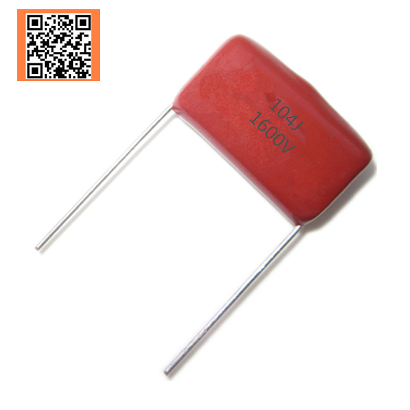 5pcs CBB 1600V  0.1UF 104J 100NF 1600V 5% PITCH 20MM DIP CBB Polypropylene Film Capacitor 104