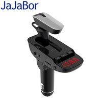 JaJaBor FM передатчик Bluetooth Car Kit громкой связи AUX 3,5 мм аудио плеер частные ответ Беспроводной гарнитура для мобильного телефона
