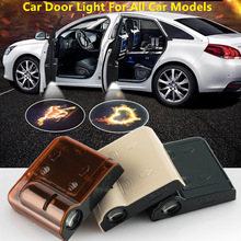 2pcs Car Door Light Welcome Lamp  Logo Ghost Shadow Laser Projector For Mercedes Benz Audi Nissan Jeep Led