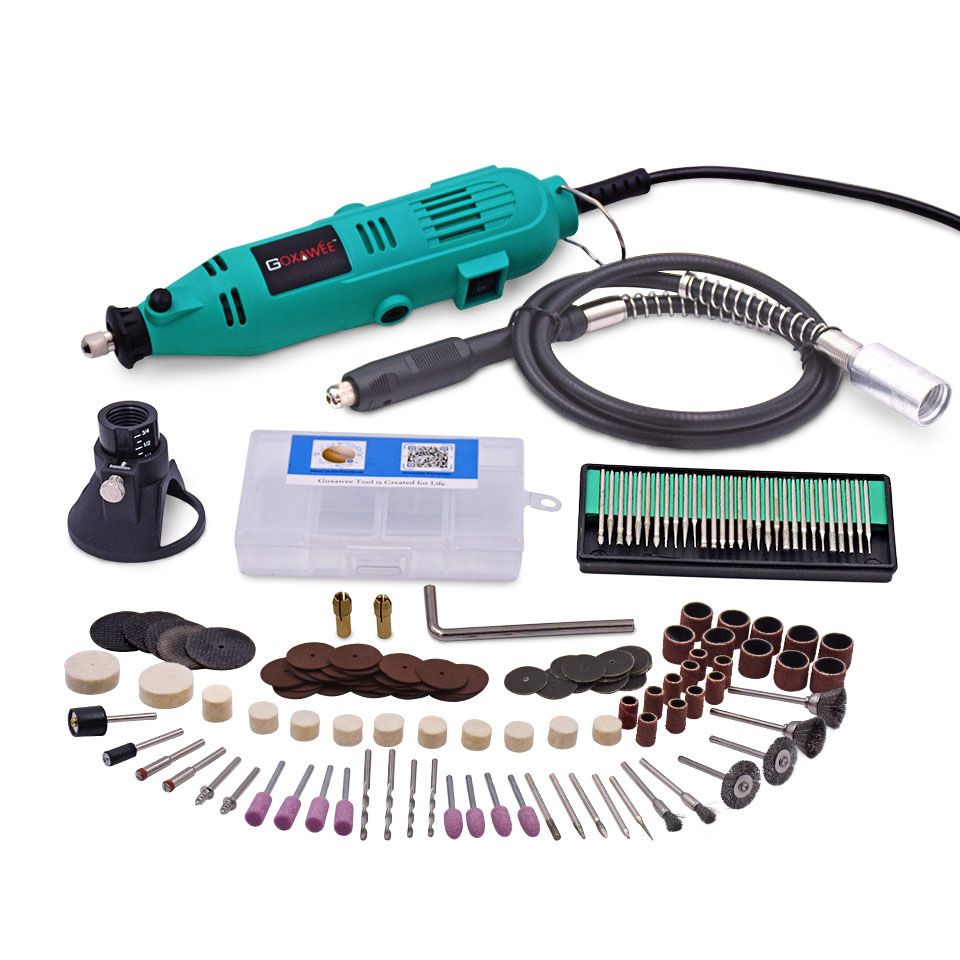 220V 130W Variable Speed Rotary Tools For Dremel Electric Mini Drill with Flexible Shaft 160PCS Accessories Power Tools tungfull 130w dremel style electric rotary tool variable speed mini drill with flexible shaft and 124pc accessories power tools