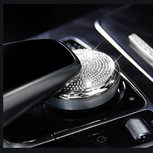 Car multimedia knob decorative cover /adjustment control knob cover For Mercedes Benz C class w205 GLC Class E Class W213 car accessories amg exhaust cover outputs pipe tail frame trim for mercedes benz glc a b e c class w205 coupe w213 w176 w246