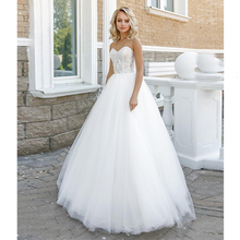 Verngo Ball Gown Wedding Dress Appliques Tull Gowns Lace-up Bride Princess Destido De Noiva Sereia