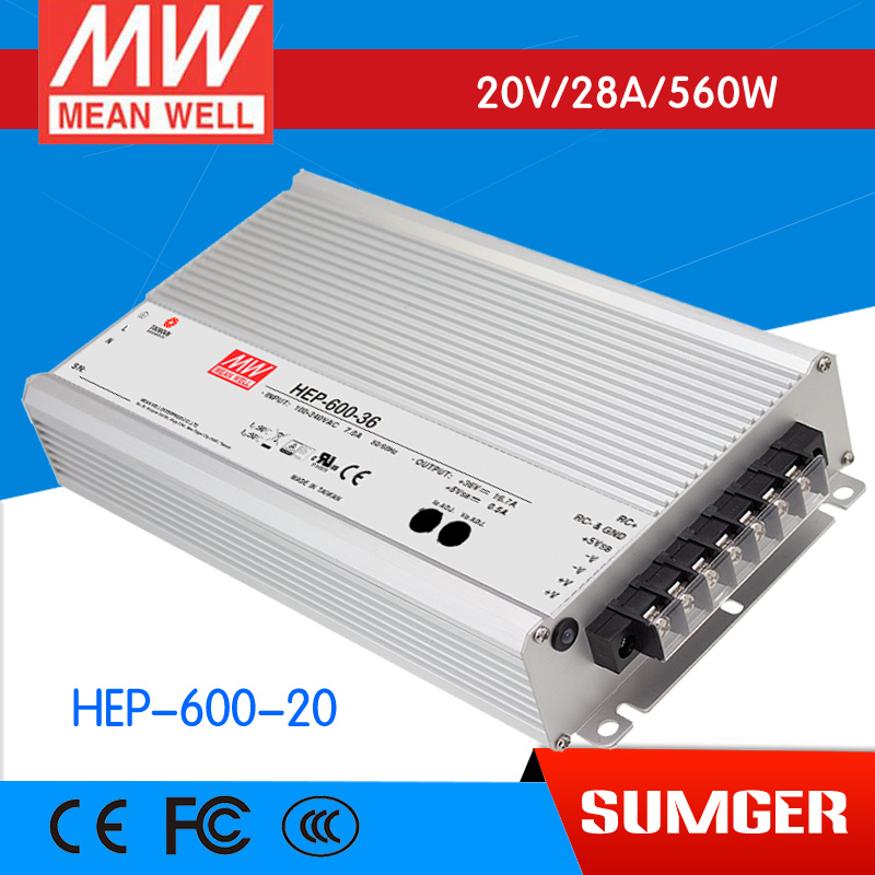 все цены на 1MEAN WELL original HEP-600-20 20V 28A meanwell HEP-600 20V 560W Single Output Switching Power Supply онлайн