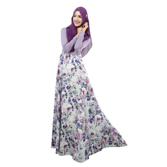 7d34a961fa US $16.1 27% OFF|Women Sexy Vestidos Large Size Floral Kaftan Abaya Jilbab  Islamic Muslim Long Sleeve Maxi Dress Party Dresses-in Dresses from Women's  ...