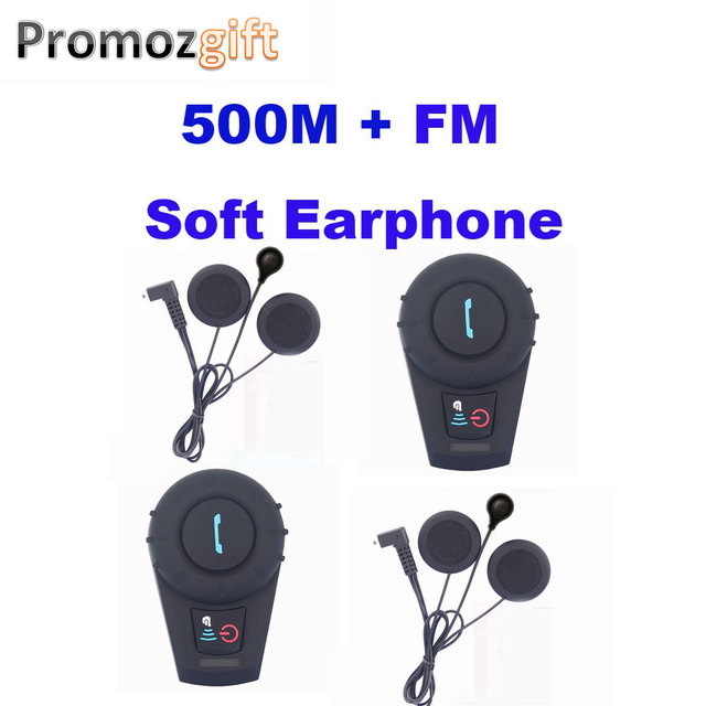 Soft Earphone! 2PCS FDC-VB 500M Waterproof Motorcycle BT Interphone Helmet Intercom Headset bluetooth speaker motorcycle