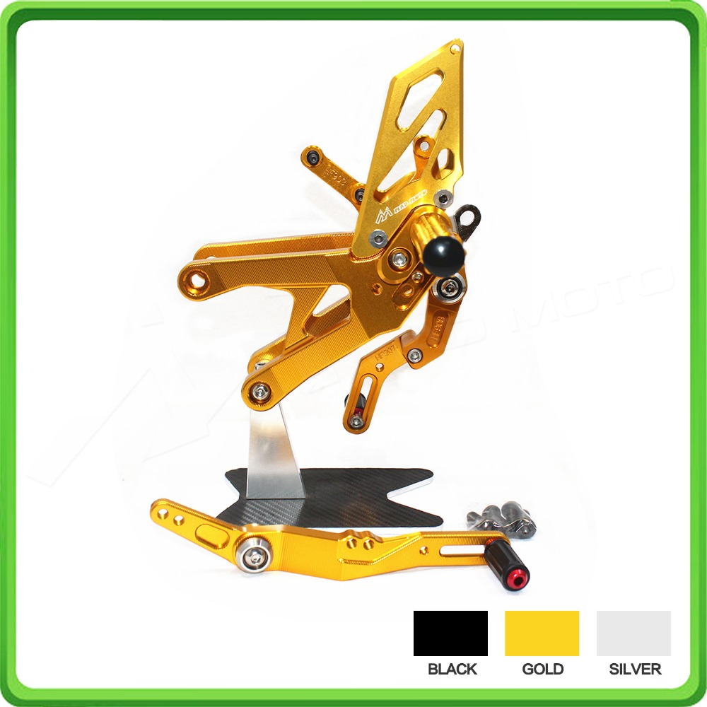 RACING USE Adjustable Rearsets Rear Set Sets Footrest Foot Pegs Pedal For Yamaha R1 15 YZF-R1 R1M R1S 2015 2016 2017 2018 Gold