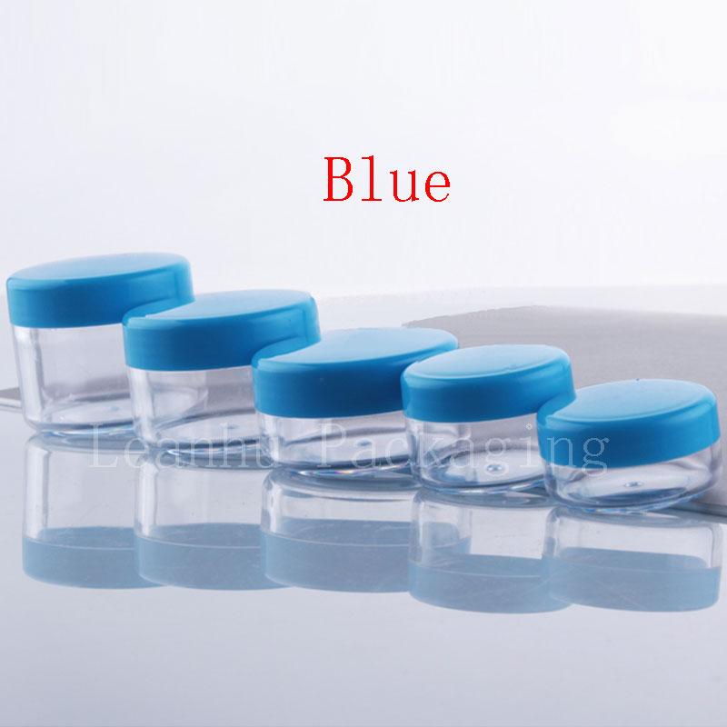 3g 5g 10g 15g 20g jar with blue l id