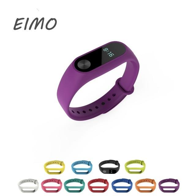 EIMO Silicone Wrist bracelet for Xiaomi Mi band 2 strap Wristband Mi band2 Sport