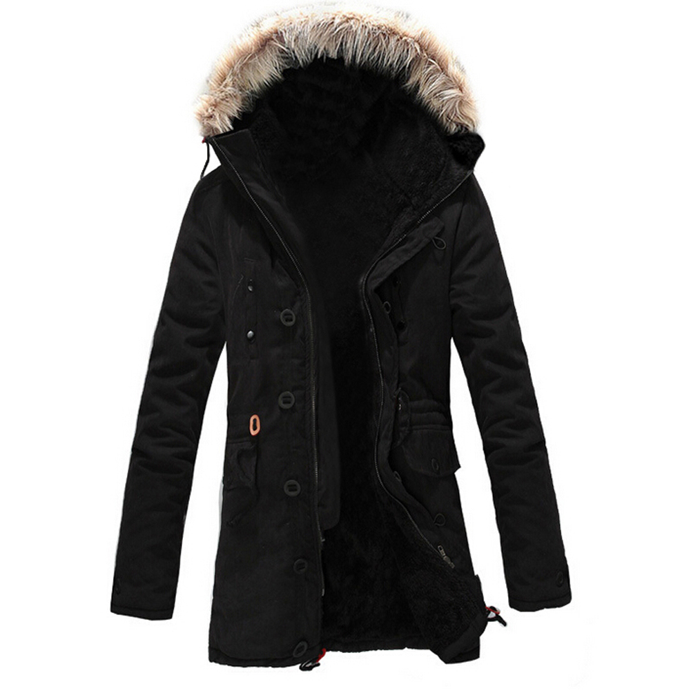 TFGS Winter Warm Fleece Parka Dreadnought Trench Jacket Duffle Coat