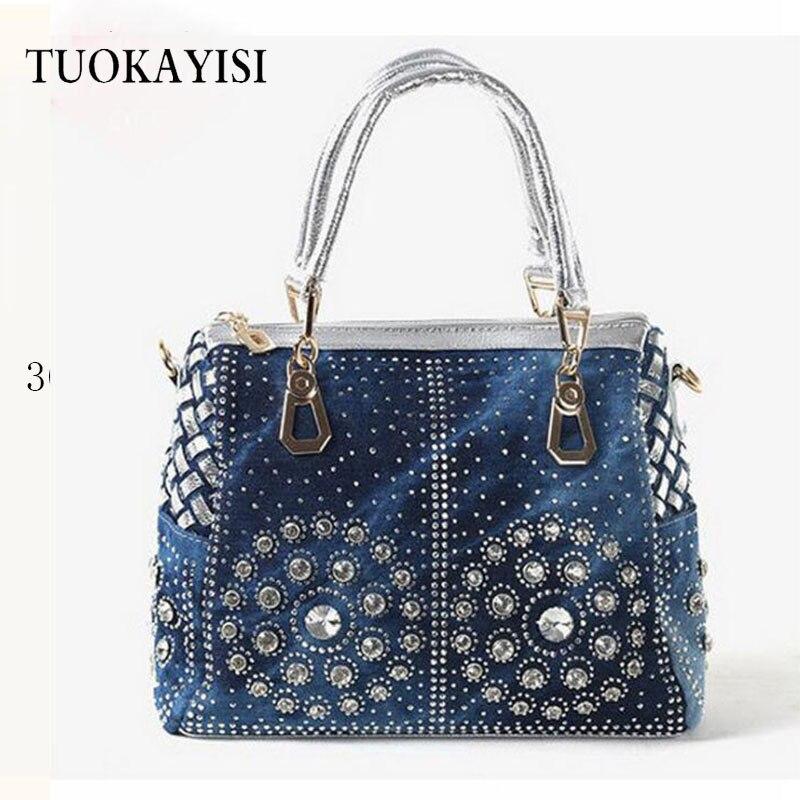 2018 новый роскошный алмаз Дизайн Для женщин сумки новая мода сумка бренда Стиль ковбой Сумки Женский Сумка