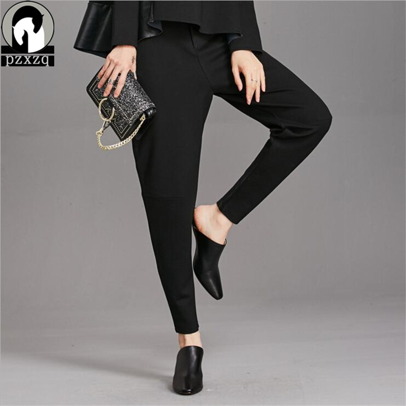 2019 Autumn Fashion High Waist Pencil   Pants   For Women Office Style Work Wear Skinny   Capris     Pants   Female Formal Pockets Trousers
