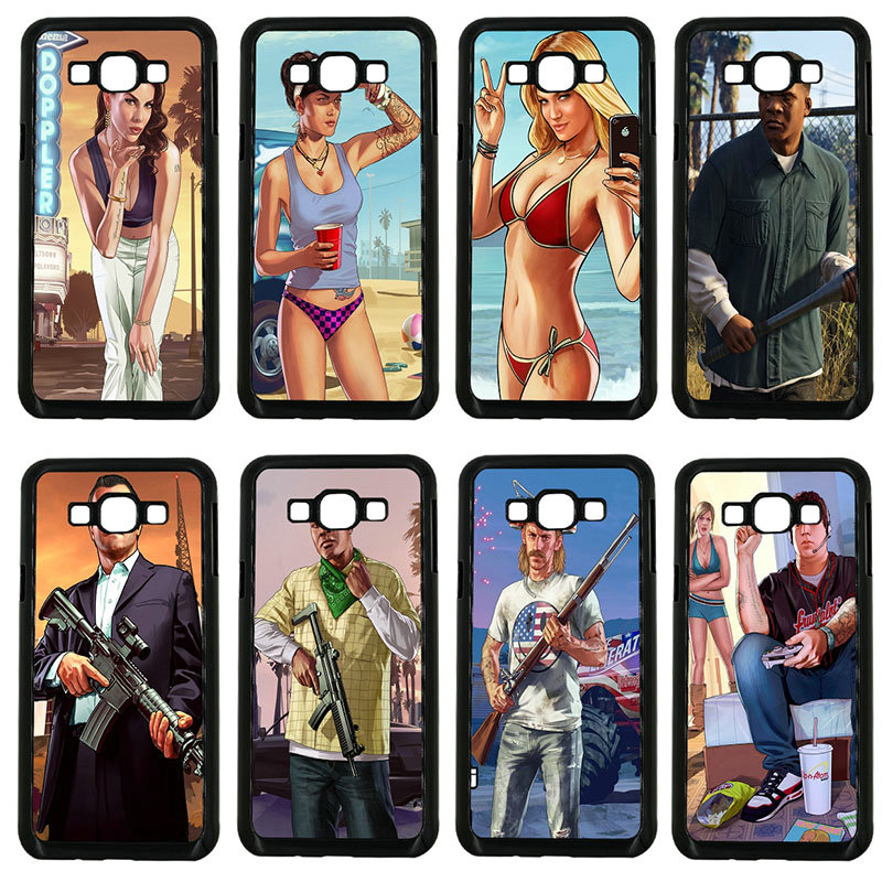 Hard PC Cover San Andreas GTA Grand Theft Auto 5 Phone Cases for Samsung Galaxy J1 J2 J3 ...