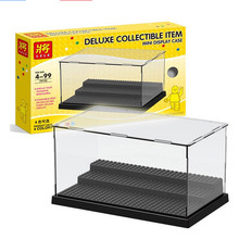 2019互換アクリルプラスチックアクションフィギュアlepiningディスプレイケースボックス防塵表示ボックスlozビルディングブロックレンガのおもちゃ