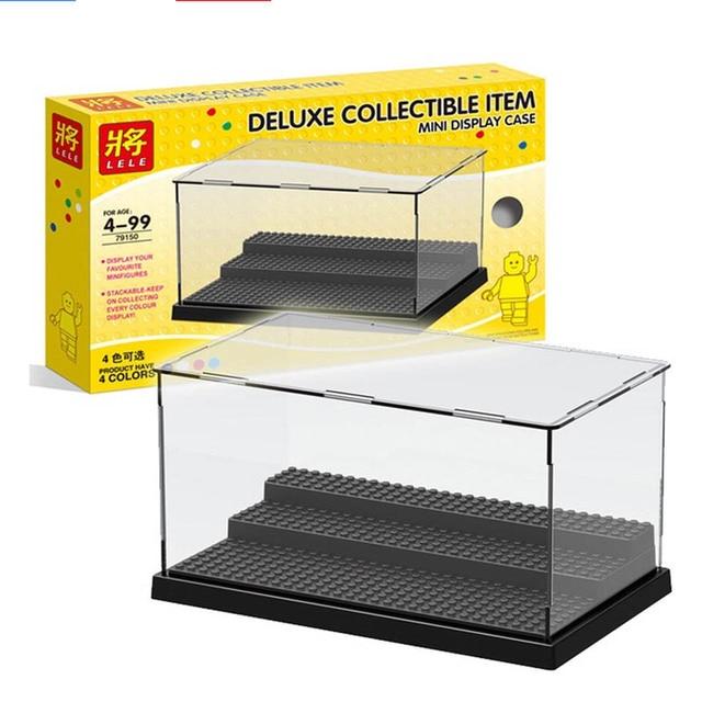 2019 uyumlu akrilik plastik aksiyon figürleri vitrin kutusu toz geçirmez ekran kutusu loz yapı taşları tuğla oyuncaklar