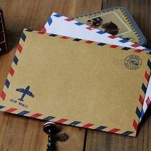 Лучшие 10 шт./лот 17.5*12.5 см ретро просто личность 125 г Высокое качество kraft Бумага/простой белый Бумага air конверт западные конверт