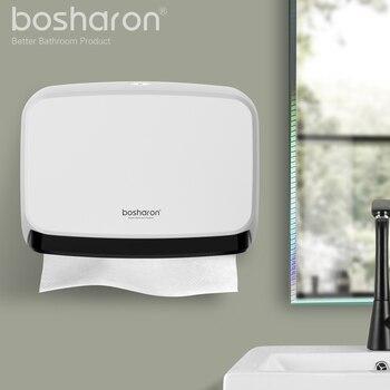 Baño Kithen dispensador de toallas de papel montaje en pared nuevo ABS caja de tejido de Material grueso dispensador de papel de mano accesorios para el hogar