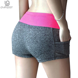 Image 1 - 12 Colors Womens Shorts Summer Elastic Waist Sporting Shorts Casual Printed Quick Dry Shorts For Female Fitness Short Pants