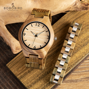 relogio masculino BOBO BIRD Green Sandalwood Men Watch Bracelet Luminous Wood Timepieces Watches Men's Gift Drop Shipping Quartz Watches