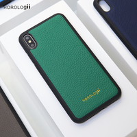 Horologii fashion and classic style phone case for Iphone Xs max Xr cover Germany calf cow leather custom name service gift box