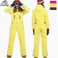 SAENSHING Водонепроницаемый лыжный костюм Для женщин Лыжный спорт куртка + сноуборд штаны Outdoor женский утолщаются супер теплый комплект Зимние