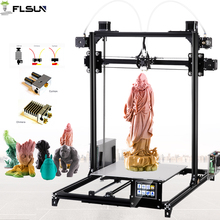 Flsun 3D Printer Kit Double Extruder Touch Screen Large Printing Area 300*300*420mm Auto Leveling 3D-Printer One Roll Filament 9 2016 new 3d color printer dual kit for sale 3dprinter electronics with one roll filament masking tape 8gb sd card for free