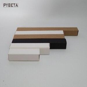 Image 2 - 100 pces caixa de papel kraft em branco papel preto delineador de papel caneta batom caixas de embalagem de presente
