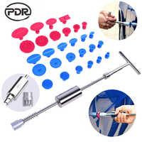 Ferramentas de pdr martelo reverso paintless dent repair tool conjunto dent extrator martelo deslizante cola tabs ventosa para dent remover