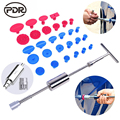 PDR Tools Kit DIY Car Paintless Dent Repair Dent Puller Slide Hammer Reverse Hammer Glue Tabs Fungi Suction Cup for Dent Remove