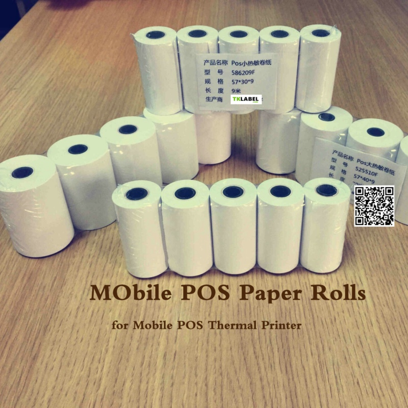 20PCS 80x30 Mm Mobile POS Thermal Printer  80mm Portable Thermal Paper Roll  Ship With Fast Delivery Way