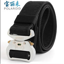 Tactical Belt ENNIU Nylon Outdoor Sports 125x4.3cm Military Adjustable with Metal Buckle Hunting Accessories