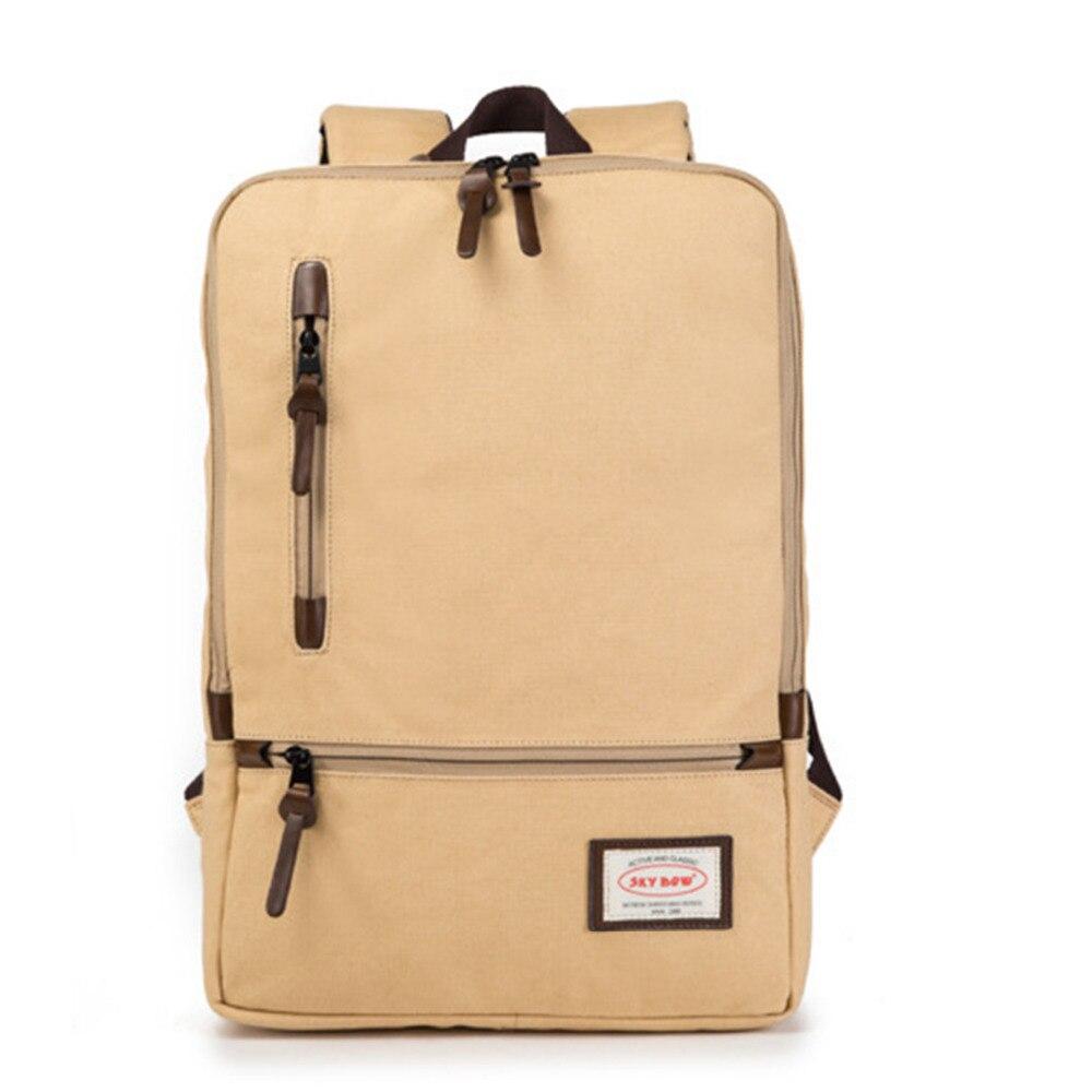 цена на Casual School Bag Laptop Backpack Men Travel Backpack Women Large Capacity Bag Computer Canvas bag 15 inch High Quality