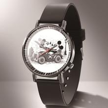2019 Fashion Cute Mickey Minnie Mouse style Childrens Watches Kids Student Girls Boys Quartz leather Wrist Watch