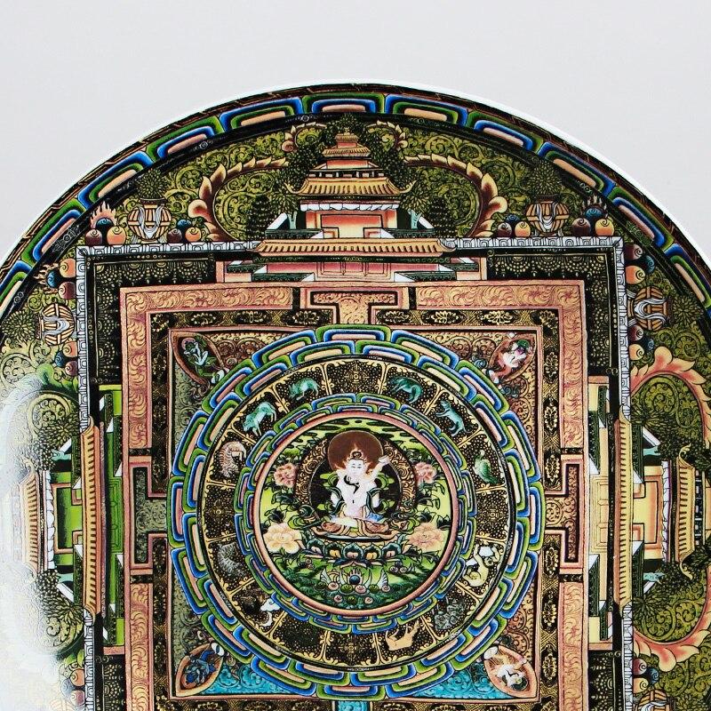 Jingdezhen-assiette décorative en porcelaine | Céramique tang-ga assiette suspendue, métope pour salon hôtel - 3