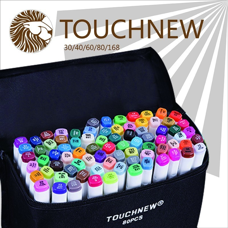 TOUCHNEW two-headed alcohol oily sharpie art mark pen fine markers 30 36 40 hand-painted design suits manga draw drawings я immersive digital art 2018 02 10t19 30