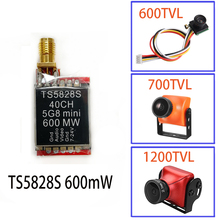 FPV 5,8 ГГц 600 мВт 48 каналов TS5828 мини беспроводной A/V передающий TX модуль+ 600TVL/700TVL/1200TVL камера для 220 250 Quad
