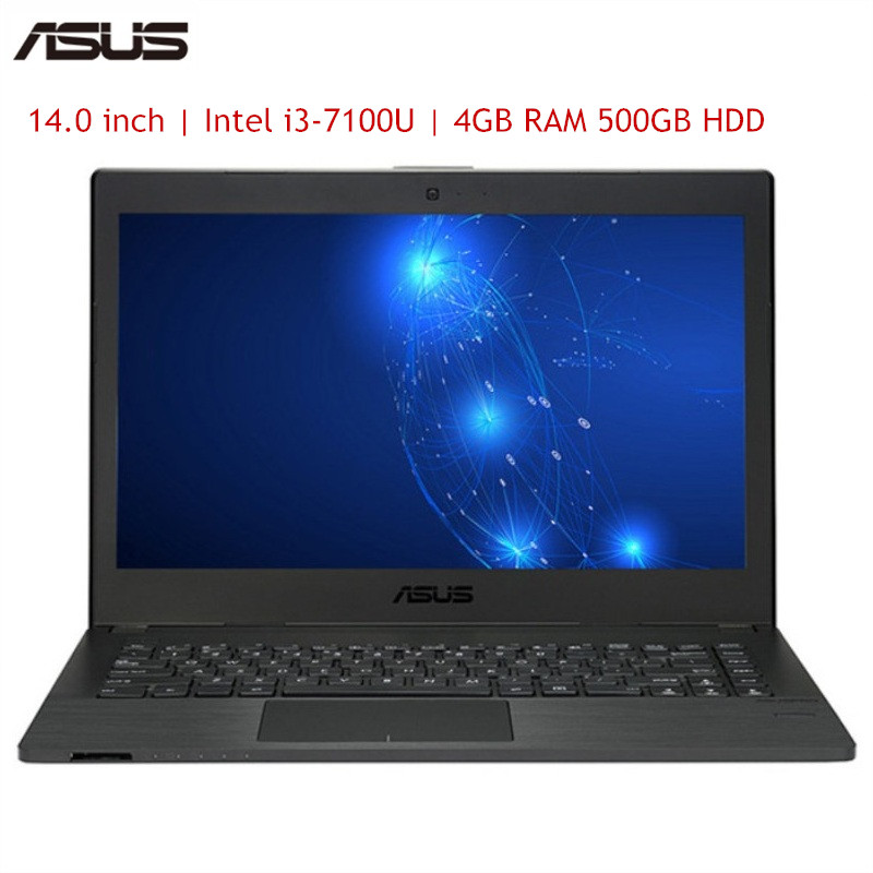ASUS P2440UQ7100 Notebook 14.0 Inch Windows 10 Pro Intel I3-7100U Dual Core 2.4GHz 4GB RAM 500GB HDD Fingerprint HDMI Bluetooth