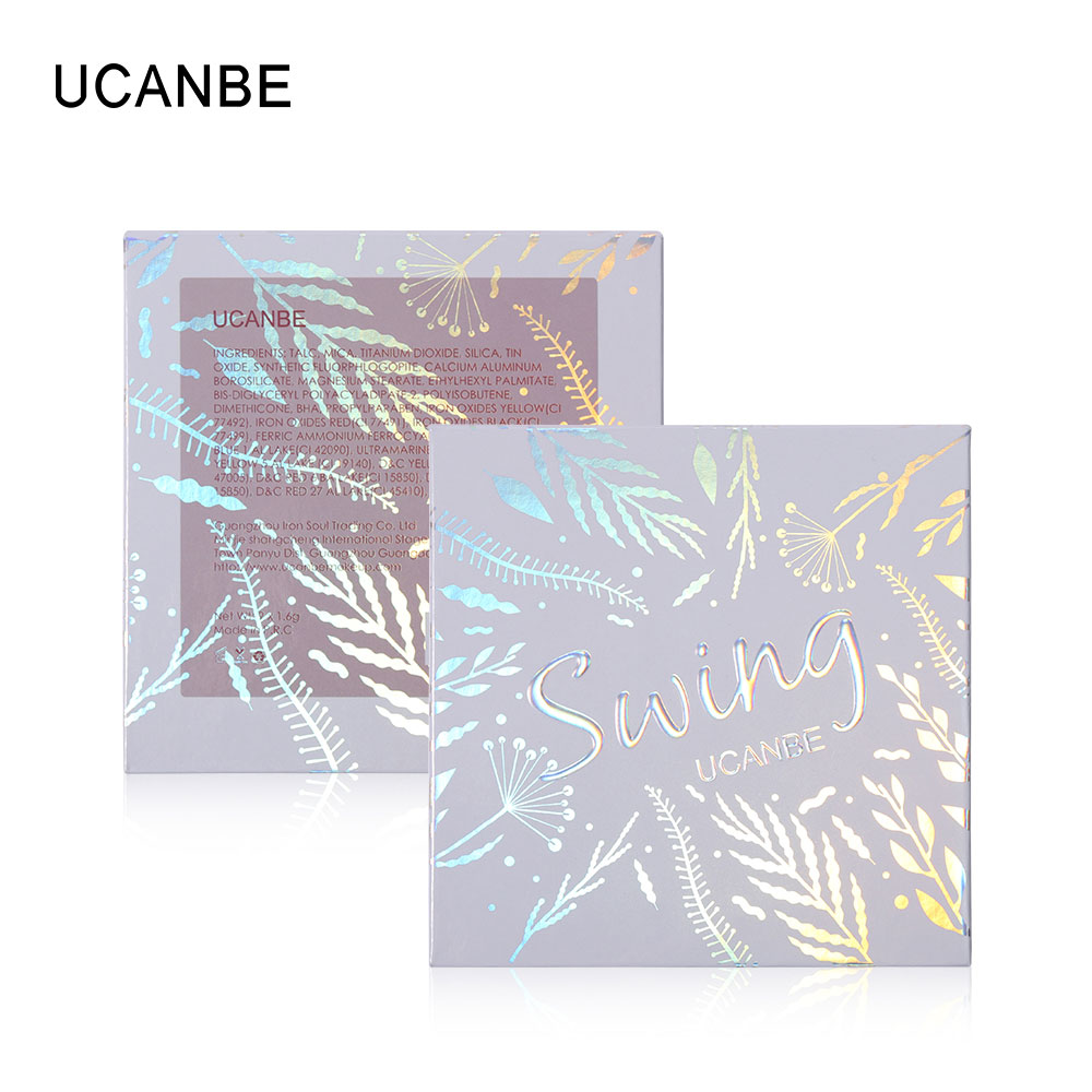 UCANBE 9 Metallic Duochrome Eyeshadow Palette Pigmented Color Payoff