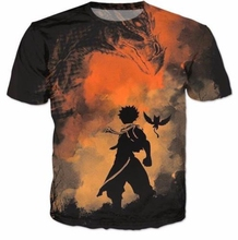 2017 Casual Hip Hop Womens/Mens t shirt Fairy Tail Funny Short Sleeve Funny 3D Print T-Shirt Summer Tops Tees Plus S-5XL R1036