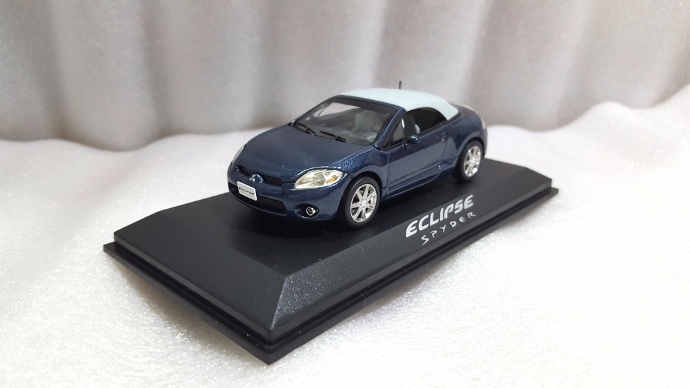 1:43 Diecast Model for Mitsubishi Eclipse Spyder Blue Alloy Toy Car Miniature Collection Gifts 1 18 diecast model for mitsubishi lancer evo x 10 bbs wheels blue alloy toy car miniature collection gifts evolution
