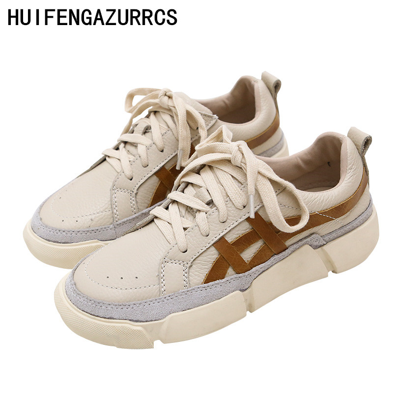 HUIFENGAZURRCS Spring and autumn soft sole comfortable small white shoes women s shallow lace low upper