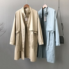 2019 Spring Autumn Casual Trench Coat for Women Loose Large size Medium long Out