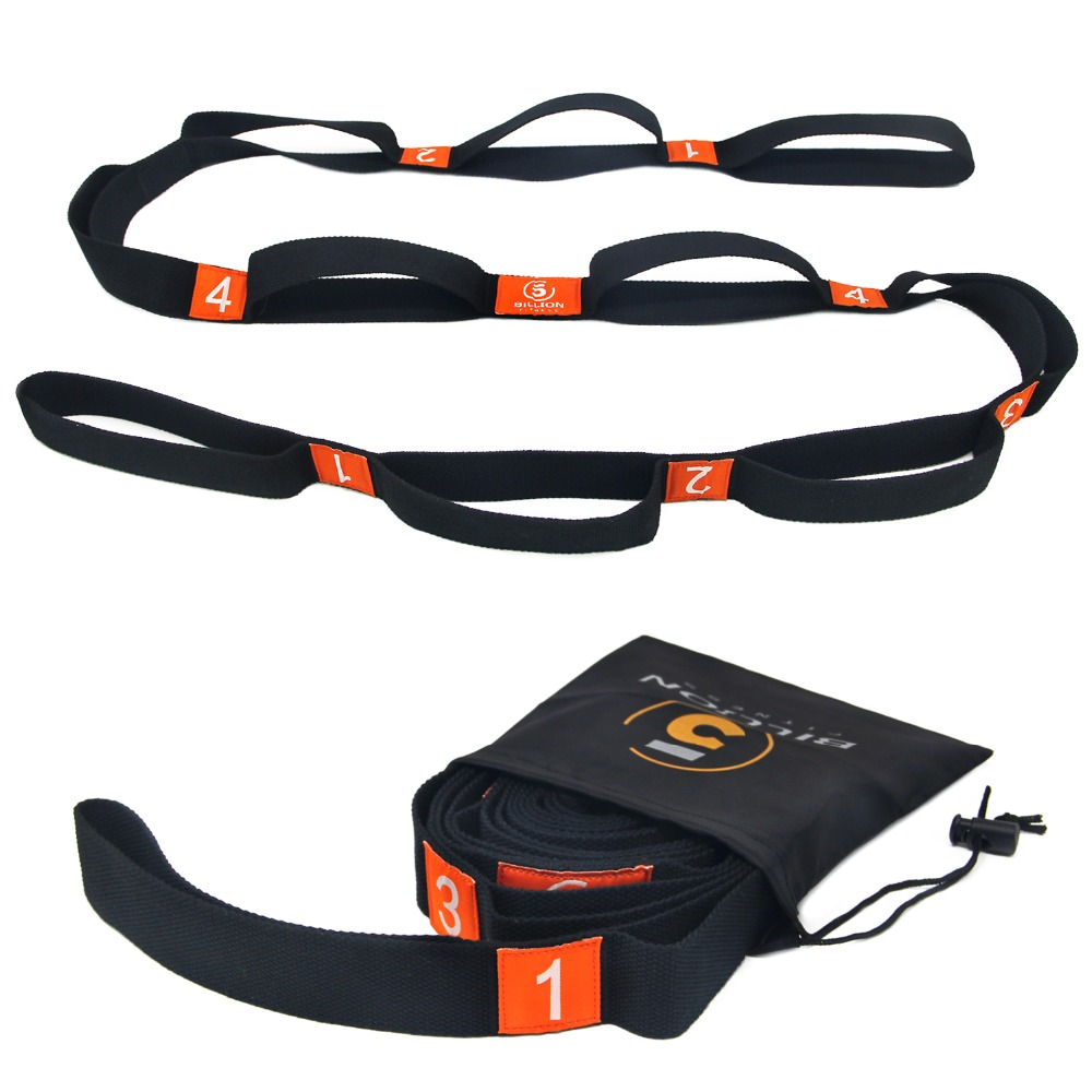 Yoga Stretch Strap Resistance Bands Loop Durable C0tton For Pilates And Yoga Stretching Training With Carrying Bag