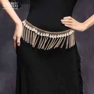 Image 3 - Girls wholesale beads belt women dance Jewellery beads belly dance clothes  fashion belly dance hip scarf on sale