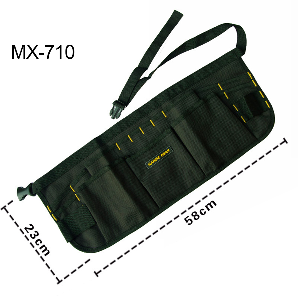 Free Shipping 600D High Density Waterproof Oxford Car Wrapping Tool Bag Black Pocket Waist Apron MX-710 Whole Sale