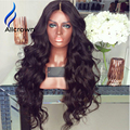2017 Brazilian Body Wave Full Lace Wigs With Baby Hair Brazilian Lace Front Human Hair Wigs Wavy Front Lace Wig Human Hair
