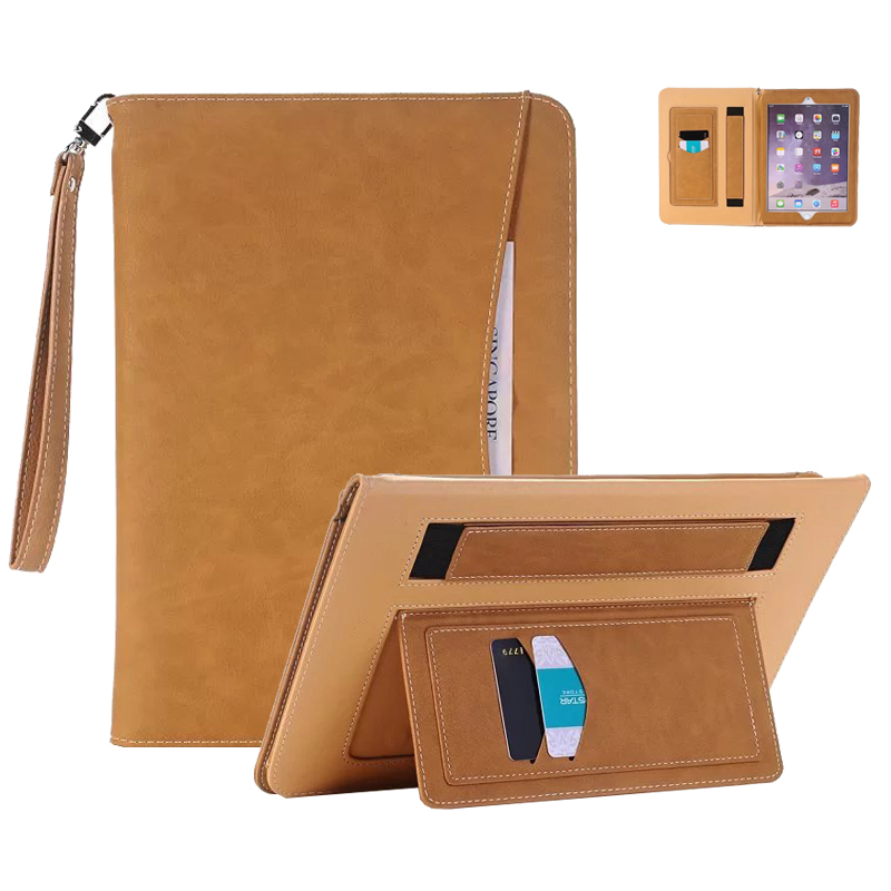 Case for iPad Pro 9.7 inch Full-Body PU Leather Protective Cover Case with Hand Strap Card Pocket for iPad Pro 9.7 Case 2016